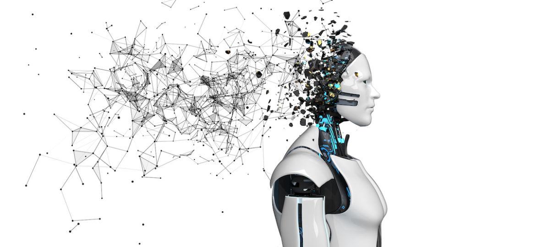 Robot Fragmented Head Networks White
