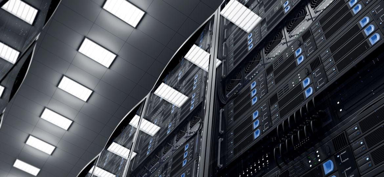 3D Illustration Serverraum
